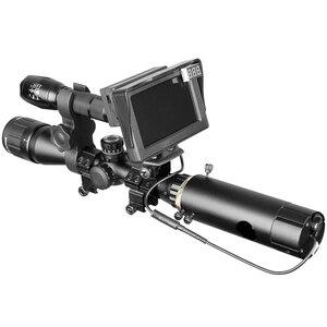 Image 4 - 850nm infrarrojo DIY dispositivo de visión nocturna mira día noche al aire libre doble uso pantalla LCD y linterna láser y camuflaje cinta