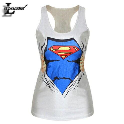 Summer Style Fashion Vest Sad Superman Emoji Pattern Women   Tank     Tops   Cartoon Print Fitness Sexy Punk Camisole F123