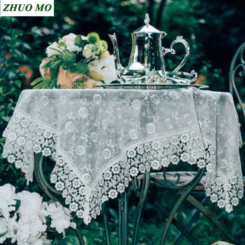 Fashion Lace Rectangular table cloth round Wedding decoration Kitchen accessories dining for Home