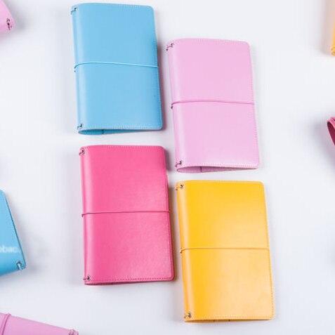 все цены на 2018 Macaron Original leather traveler notebook,cute portable bandage personal diary planner notebooks,Nautical candy filofax онлайн