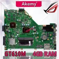 Akemy X55VD Laptop motherboard for ASUS X55VD X55V X55 Test original motherboard REV2.1/REV2.2 GT610M 4GB RAM