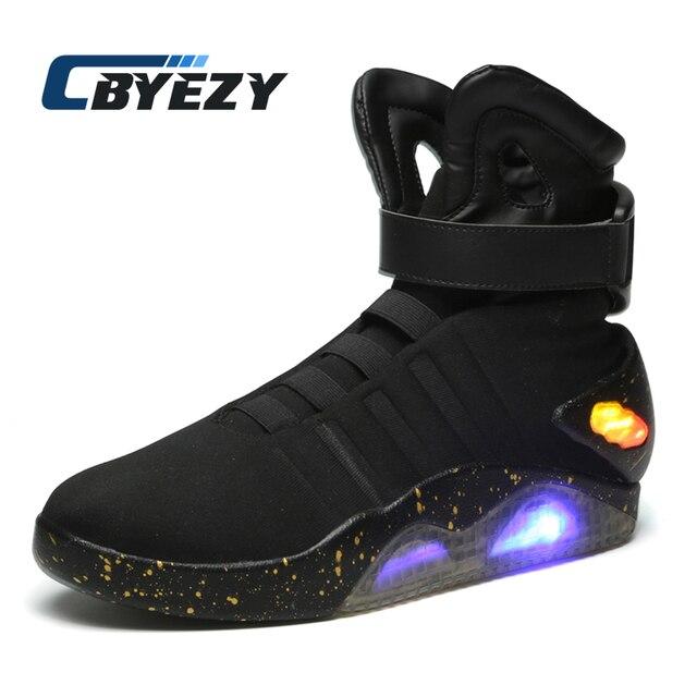 ec676db21cf Volver al futuro zapatillas brillantes zapatos de soldado botas de marca  Edición Limitada Led luminosos zapatos