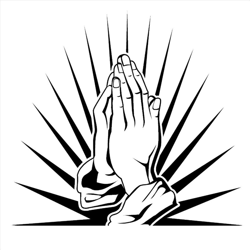 Prayer Hands Decals Praying Worship Room Vinyl Wall Art