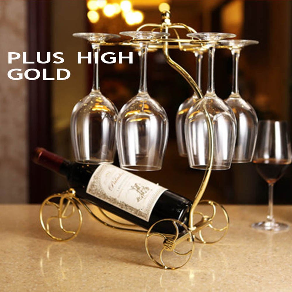 Decorative Racks Wine Bottle Holder Hanging Upside Down Cup Goblets Display Rack Iron Wine Stand Arts Design KC1283 (10)