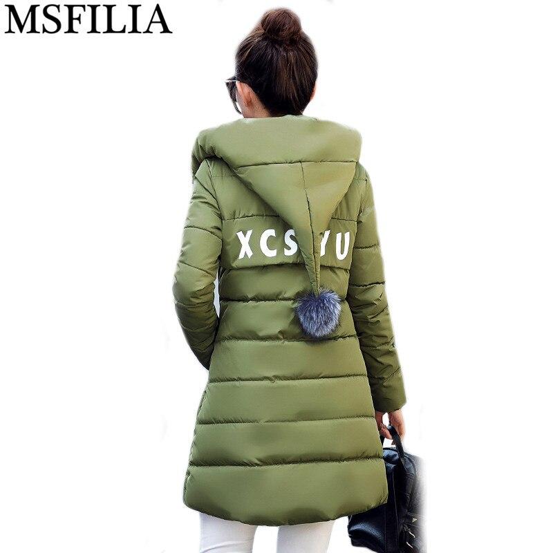 ФОТО 2017 Long Parkas Female Women Winter Coat Thickening Cotton Winter Jacket Womens Outwear Parkas for Women Winter Outwear