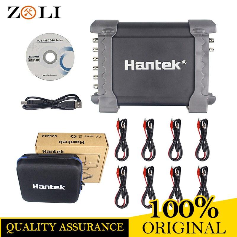 Hantek 1008A/1008B 8Channel PC USB Auto Scope/DAQ/8CH Generator 8 Channels Automotive Diagnostic Oscilloscope On Sale 1008B