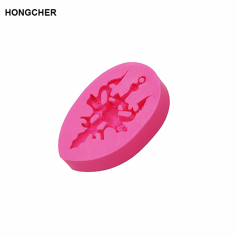 Cross Ssangyong play beads fondant silicone mold chocolate mold cake dessert mold kitchen baking gadget jelly pudding mold in Cake Molds from Home Garden