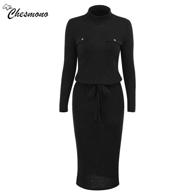 Winter High Elasticity knitted bodycon dress women casual long sleeve waist tie dress Elegant warm slim sweater dress vestidoes