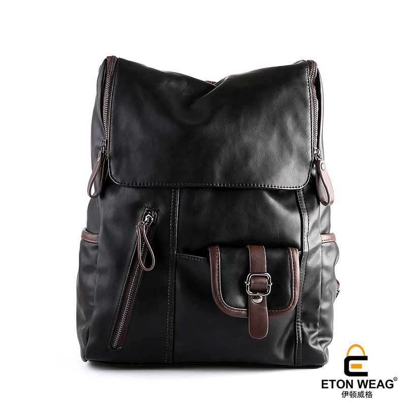 ETONWEAG Brands Cow Leather Backpacks For Teenage Girls Black Vintage School Bags For Teenagers Travel Laptop Bag Back To School male bag vintage cow leather school bags for teenagers travel laptop bag casual shoulder bags men backpacksreal leather backpack