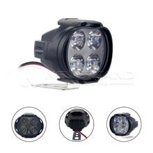 High Power 12W Super Bright Motorcycle Led Light Fog Spot White Headlight Working Light 12V