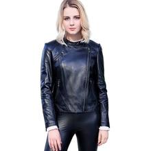 Real Sheepskin Coat Female Genuine Leather Jacket Women Outerwear jaqueta de couro Spring Natural Leather Jacket Motobiker Coat