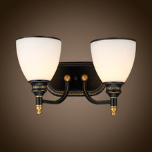 Mediterranean Double Glass Vintage Wall Lamp European Style LED Wall Light Mirror lamps For Indoor Home Lighting Wall Sconce