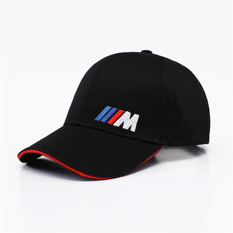 M logo cotton sports Golf outdoor baseball cap hat simple solid for BMW E30 E34 E36 E38 E39 E93 F10 F20 F30 X1 X3 X5 X6 brushed cotton twill ivy hat flat cap by decky brown