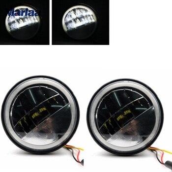 12ca55c45c Refletor LED Luzes de Nevoeiro Auréola Marlaa 4.5 Polegada Passando Luz  para Electra Glide Road King 2005-2013 2005- 2016