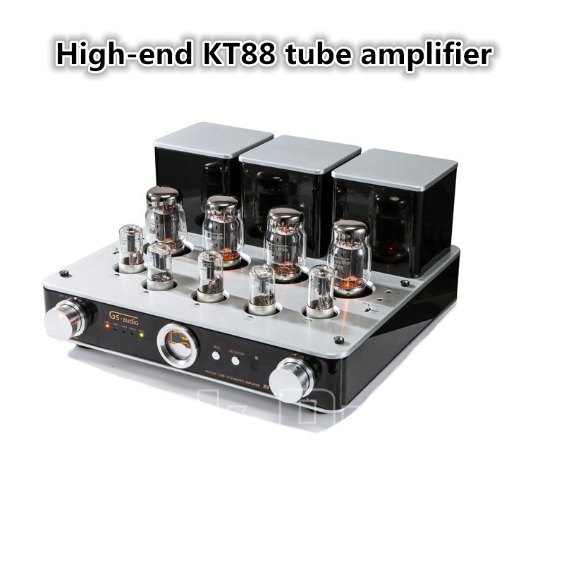 Music Hall Latest Hi-End KT88(EL34) Vacuum Tube Integrated Amplifier Stereo HiFi 2.0 Headphone Power Amp music hall latest muzishare x7 push pull stereo kt88 valve tube integrated amplifier phono preamp 45w 2 power amp