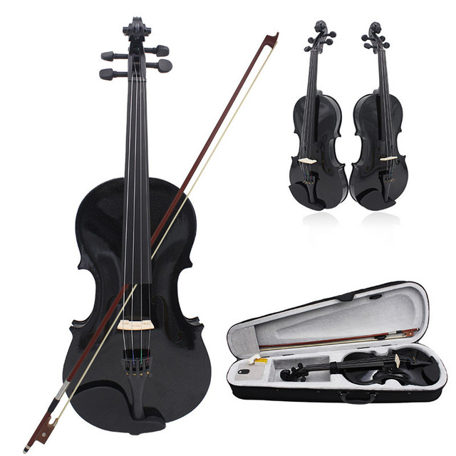 Elegant Solid Wood Acoustic Violin