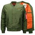 New Men's 6XL Coat Jacket  Embroidery Air Force Flight Ma1 Jacket Army Green Military Motorcycle Jackets Coats