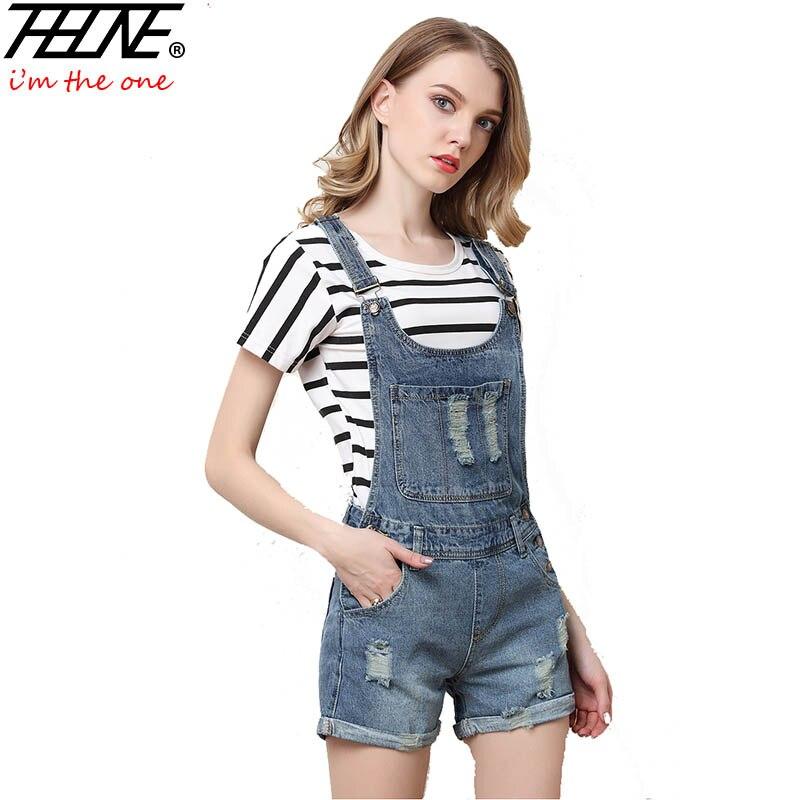 Popular Women Denim Shorts with Suspenders Jeans Overalls-Buy ...