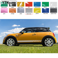 2pc stripe mud irregular styling side door graphic vinyl car modified  decals customize for BWM MINI
