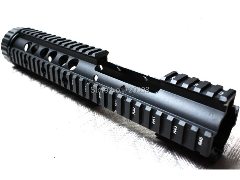 Cheap metal CQB 12.0 inch tactical handguard rail system Hollow out version for AEG M4/M16 - Free shipping hunting picatinny rail 4 25 inch handguard rail cqb tactical rail systems for aeg m4 m16