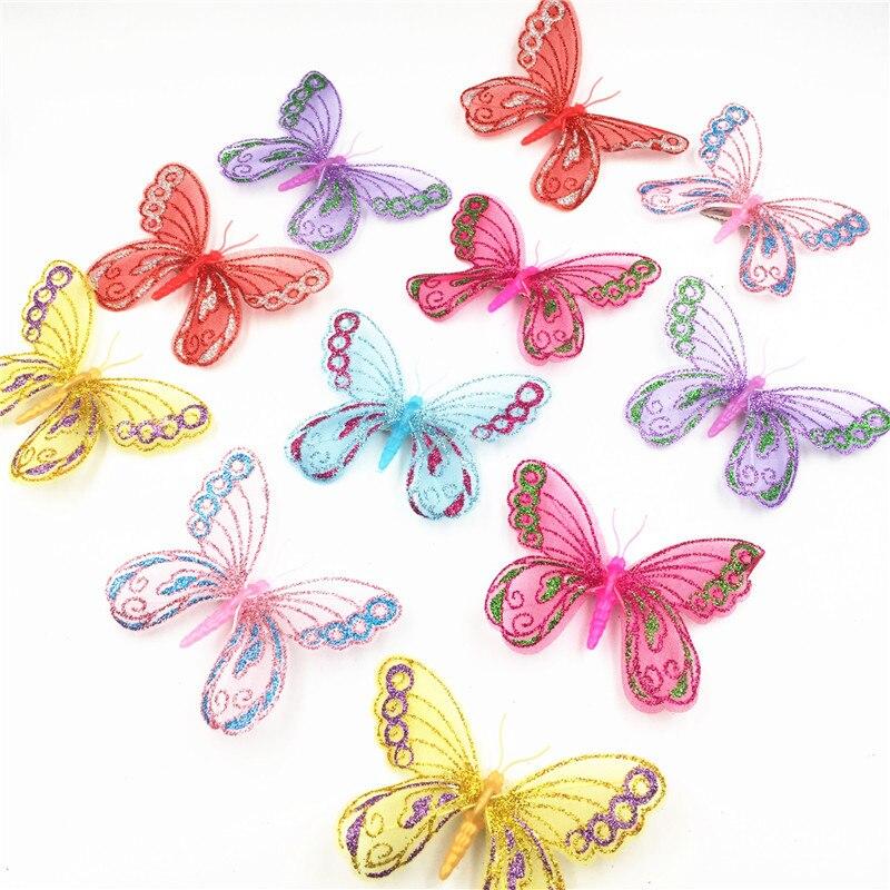 US $1.89 20% OFF 6 teile/los Hängen Schmetterlinge Vorhang Schmetterling  Hochzeit Dekorationen Für Baby Kinderzimmer Schlafzimmer Mädchen Zimmer ...