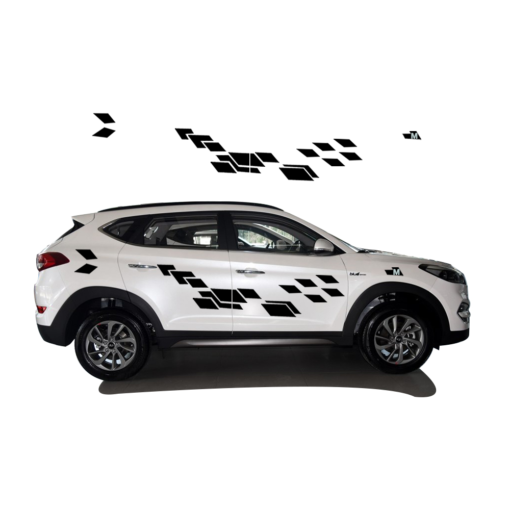 2018 New Personality Car Sticker For Hyundai Tucson Funny DIY Decal Sticker Car Styling 2 Color 2 Pcs car decals for ford focus 2017 new personality car sticker funny diy decal sticker car styling 2 color 2 pcs car accessories