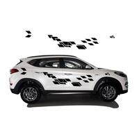 2018 New Personality Car Sticker For Hyundai Tucson Funny DIY Decal Sticker Car Styling 2 Color 2 Pcs