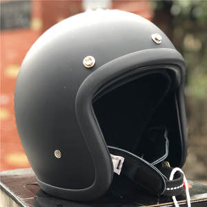 Cafe Racer Helmet Shell Light-Weight Low-Profile Vintage Motorcycle 500TX Japanese