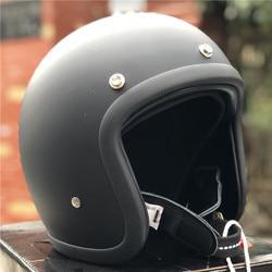 Casco de motocicleta de bajo perfil japonés 500TX cafe racer casco de fibra de vidrio ligero casco de motocicleta Vintage