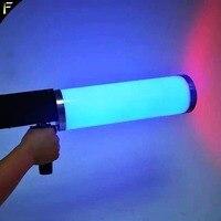 Популярные СВЕТОДИОДНЫЙ CO2 крио клуб пушки криогенных специальные эффекты пистолет Co2 ткацкий станок светодиодный крио пистолет RGB 6 шт. x 3 В