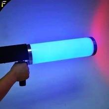 Cañón de palo criogénico de CO2, pistola de efectos especiales, Co2, máquina de chorro LED, pistola criogénica RGB, 6 uds. x3w, Color de lavado