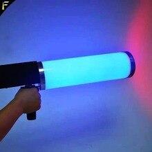 פופולרי LED CO2 Cryo מועדון תותח קריוגני אפקטים מיוחדים אקדח Co2 Jet מכונת LED Cryo אקדח RGB 6PCS x 3w צבע כביסה