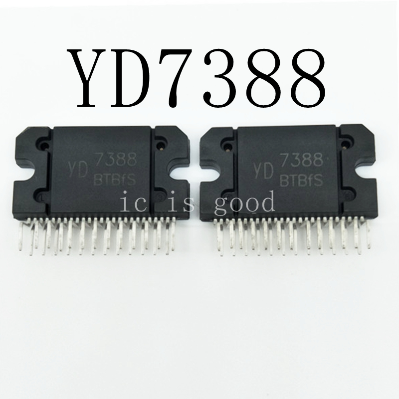 2PCS TDA7388 CD7388CZ YD7388 7388 ZIP-25 AUTOMOBILE AMPLIFIER BLOCK CHIP IC NEW