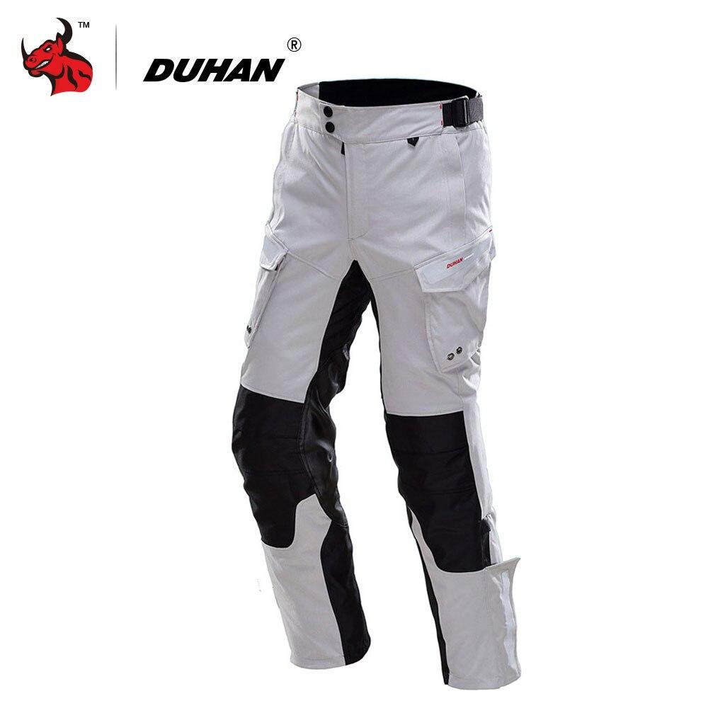 DUHAN Motorcycle Pants Men Waterproof Moto Pants Autumn Winter Motorbike Motocross Off Road Pants Protective Gear