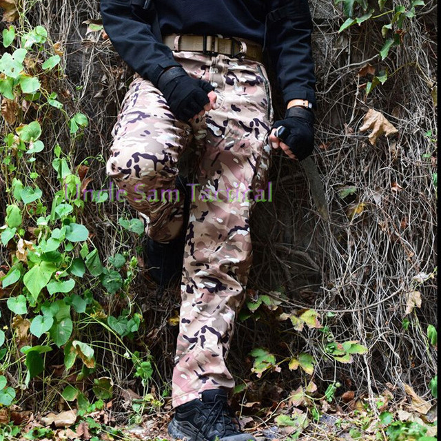 6487956f680af TAD Shark Skin Waterproof Windproof Outdoor Hiking Pants Climbing CS  Camouflage Hunting Men Fleece Trousers Military Army Pant