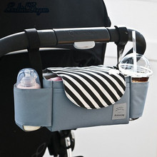 SeckinDogan Baby Stroller Bag Waterproof Large Capacity Baby Travel Bag Fashion Striped Baby Care Portable Diaper Bag