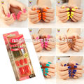 Nadeco Press On Manicure Fashion Design Short Length No Need Glue in 48 colors