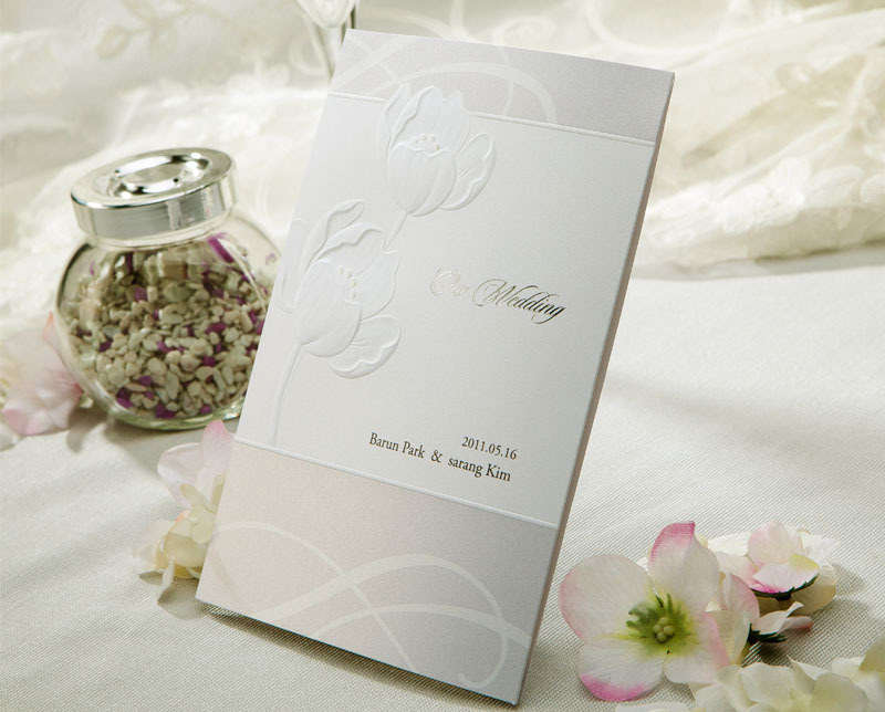 Elegant Simple White Delicate Embossing Flower And Foil Text Wedding  Invitation Cards With Envelopes, 50pcs