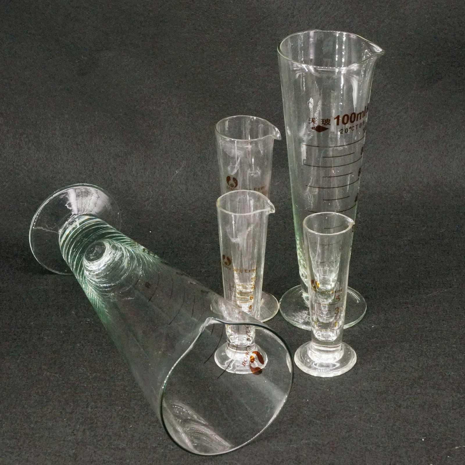 Becher 10 Ml 25 Ml 50 Ml 75 Ml 125 Ml Gg17 Glas Klar Schwefeldioxid Absorber Rohr Flasche Gerät Chemi Glaswaren