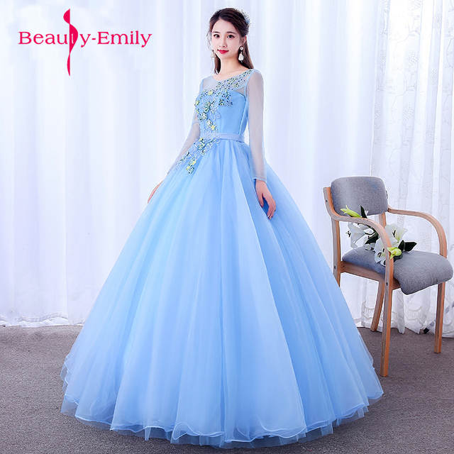 Beautiful tulle embroidery Fairy style Prom dresses Evening gowns long  backness dress for displayer Homecoming dresses -in Evening Dresses from  Weddings ... 6208df35ad5e