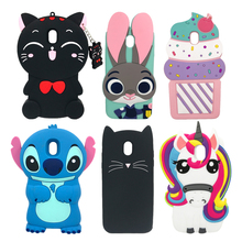 Innovation 3D Lovely Cartoon Unicorn Soft Silicone Phone Back Cases For Samsung Galaxy J3 2017 J330 J330F J330G EU Version Cover аксессуар чехол samsung galaxy j3 2017 j330f innovation ракушка silicone green 11070