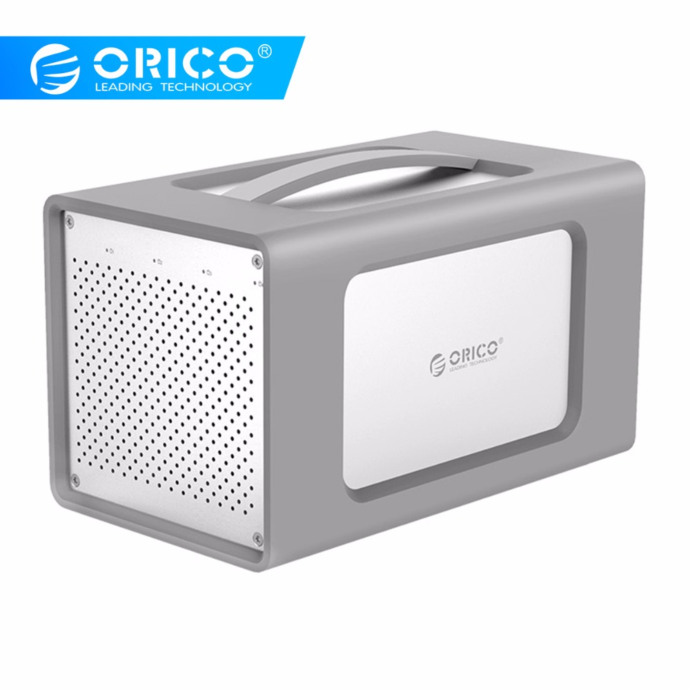 ORICO 3.5 Inch USB3.1 4 Bay HDD Enclosure Support 40TB Storage 5Gbps UASP Aluminum With Silicone Shell Tool Free Hard Drive Dock