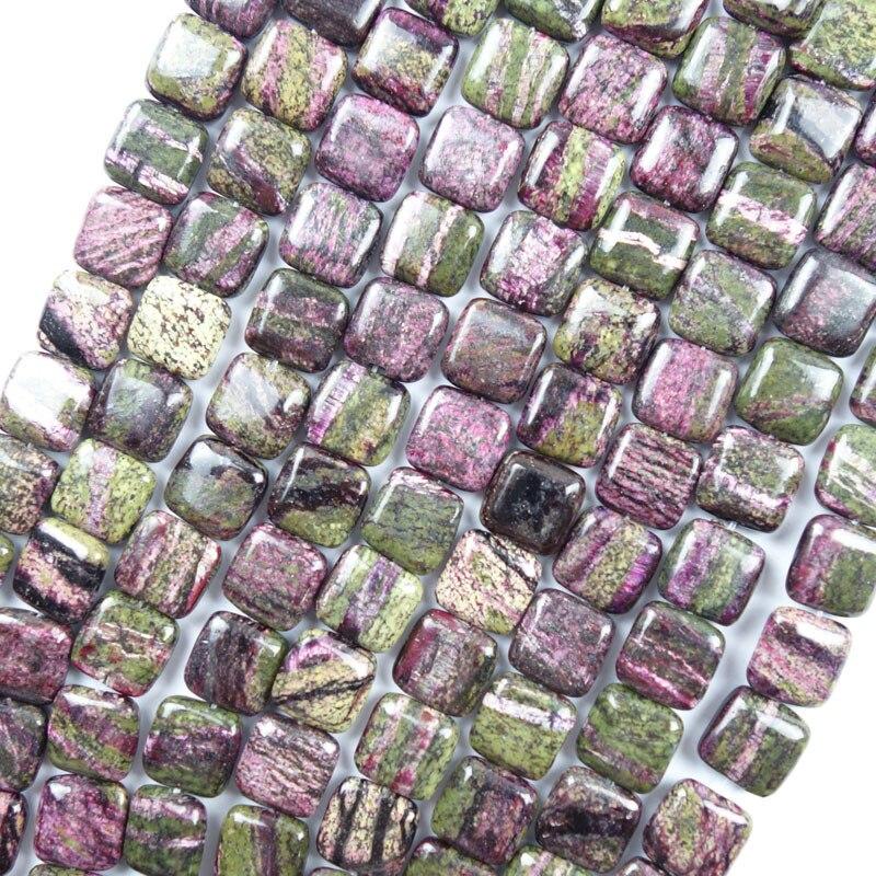 Free Shipping 1 strand 12x5mm Charoite Square Loose bead 15.5(Approx 35Pcs) CJ002 (Min.order 10$ mix)