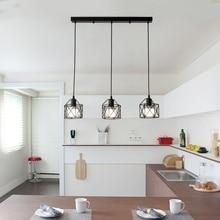 American rustic industrial  kitchen island lamp cafe hanging light modern lighting fixtures Minimalist