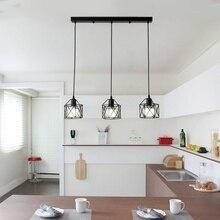 Amerikaanse rustieke industriële keuken eiland lamp cafe opknoping licht moderne verlichtingsarmaturen Minimalistische