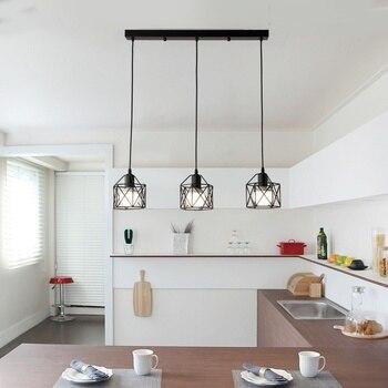 Amerikanischen Rustikalen Industrielle Küche Insel Lampe Cafe Hängen Licht Moderne Leuchten Minimalistischen