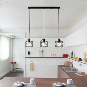 Image 1 - Lampes suspendues industrielles rustiques américaines cuisine île lampe café suspension luminaires modernes lampe minimaliste nordique