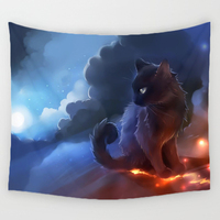 Comwarm 3D Creative Cool Cats Series Pattern Polyester Tapestry Animal Printed Wall Hanging Mural Gobelin Living Room Home Decor 5