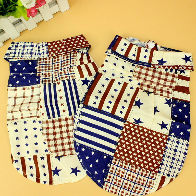 New Design Pet Shirts Puppy Dog Clothes Patchwork Coat Jersey Summer T Shirts Clothing For Small Dogs Teddy Chihuahua 15
