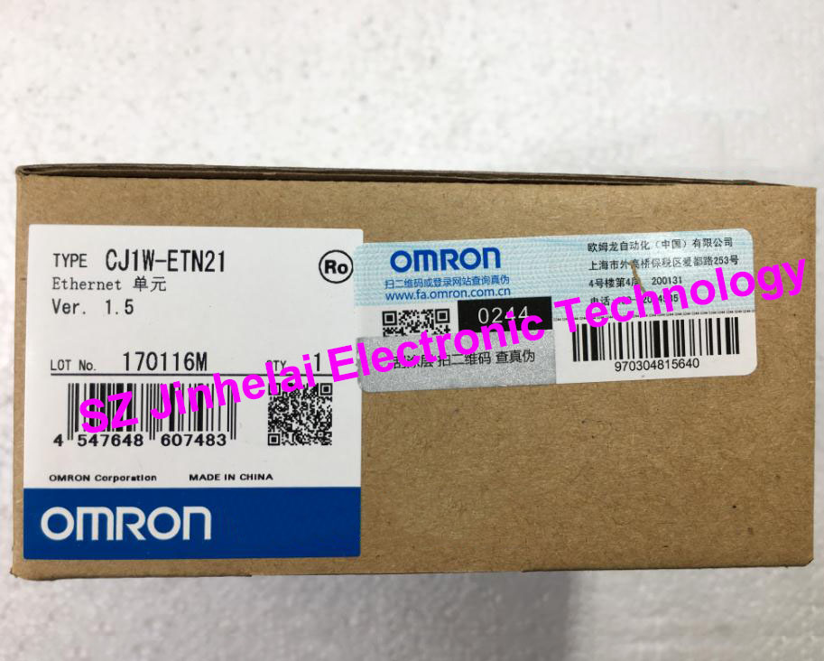 100% New and original CJ1W-ETN21  OMRON  Ethernet unit new and original e3x da11 s omron optical fiber amplifier photoelectric switch 12 24vdc